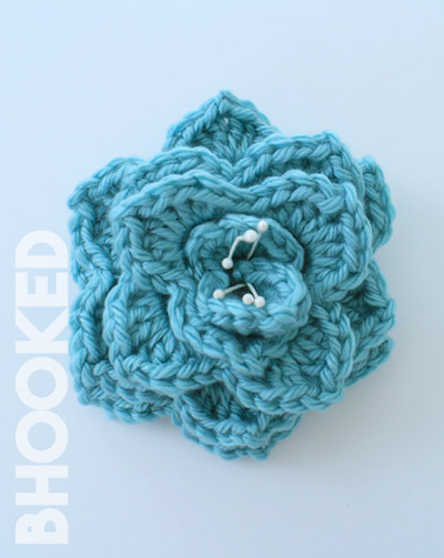 Crocodile Stitch Crochet Flower