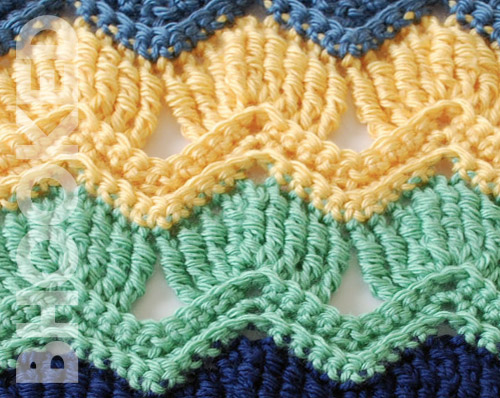 Vintage Fan Ripple Crochet Stitch