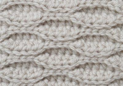 Textured Wave Crochet Stitch