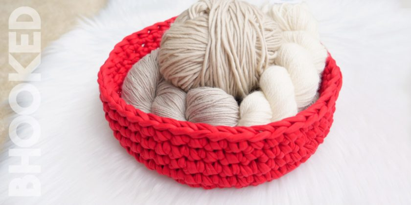 T-Shirt Yarn Crochet Bowl