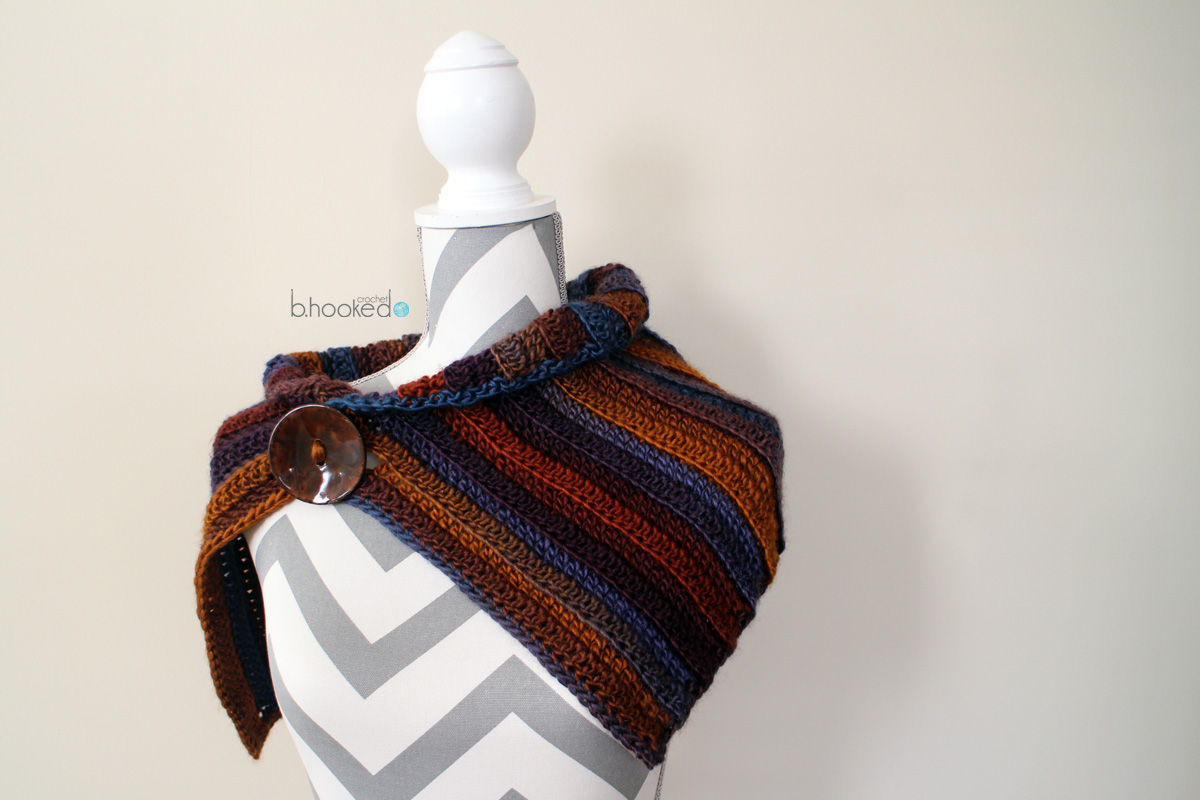 Fall Into Color Crochet Cowl