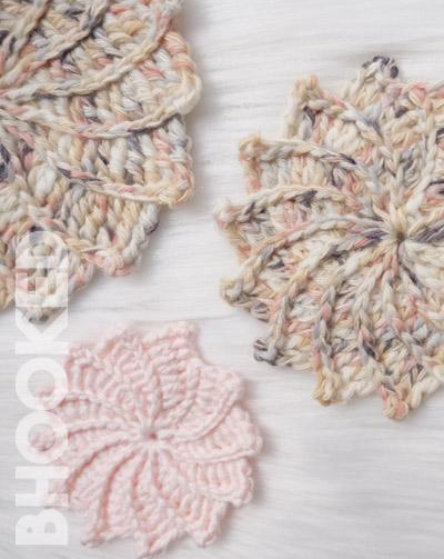 Spiral Crochet Flowers