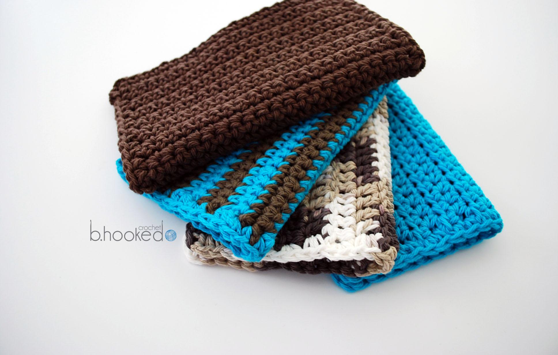 Crochet Wash Cloth Set Free Pattern And Video Tutorials