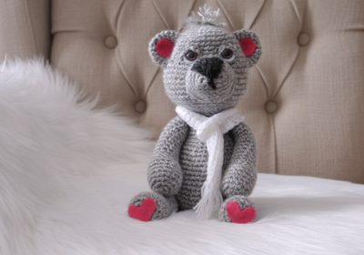 """Ben"" the Crochet Teddy Bear"