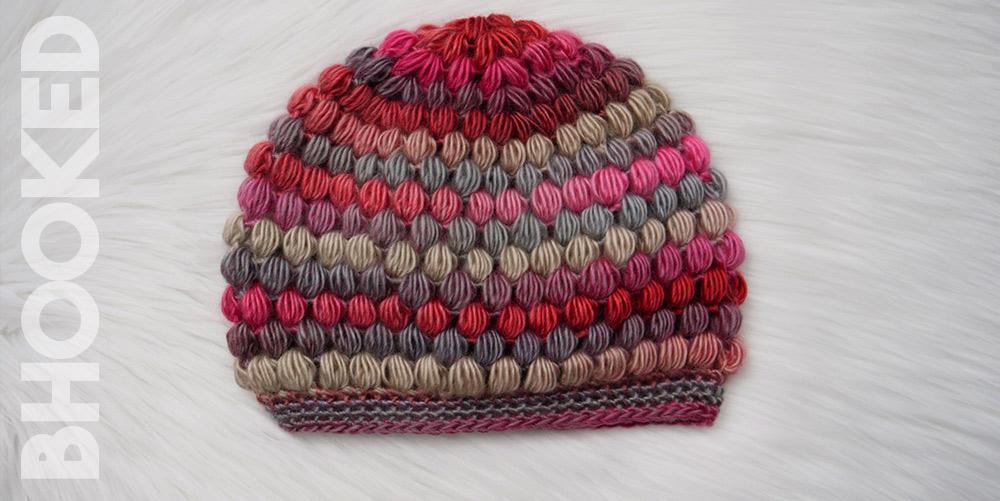 Puff Stitch Hat Free Crochet Pattern from B.Hooked