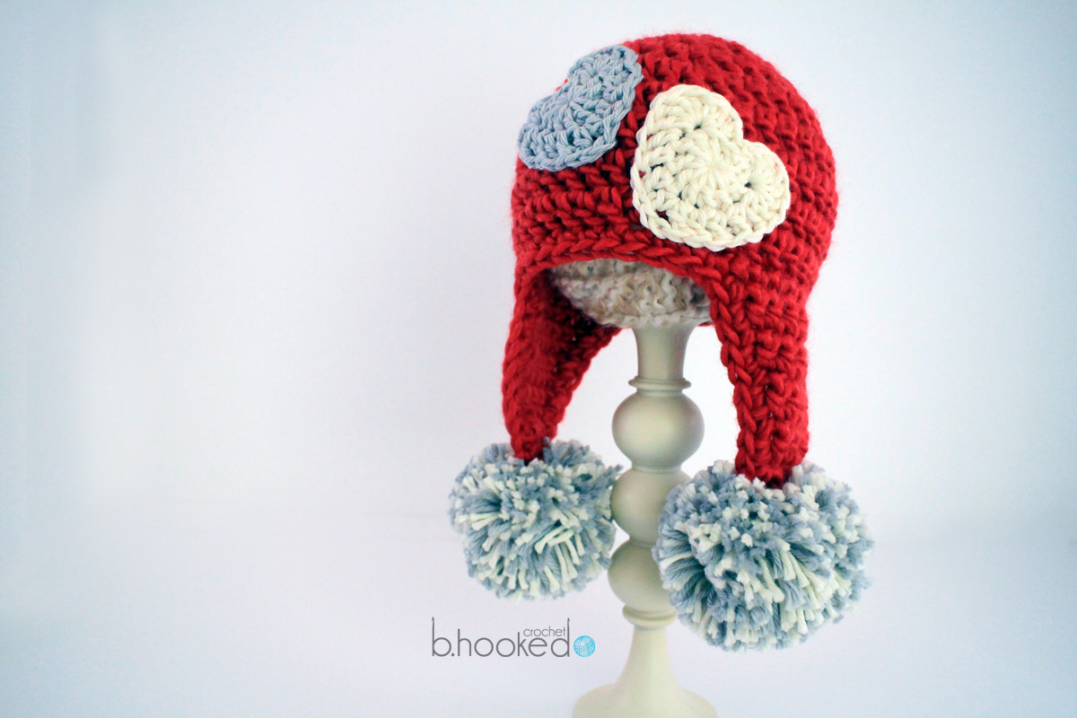 Crochet Sweet Heart Hat Pattern