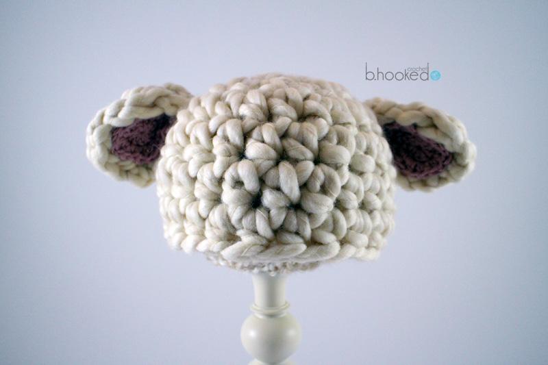Free Crochet Pattern Baby Lovey : Crochet Baby Lamb Hat - Free Pattern - B.hooked Crochet