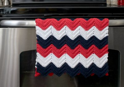 Chevron Crochet Kitchen Towel