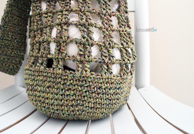Crochet Market Bag Pattern : Crochet Pattern by B. Hooked Crochet, Copyright 2015.