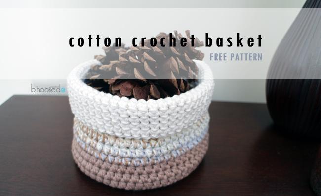 Cotton Crochet Basket for SM