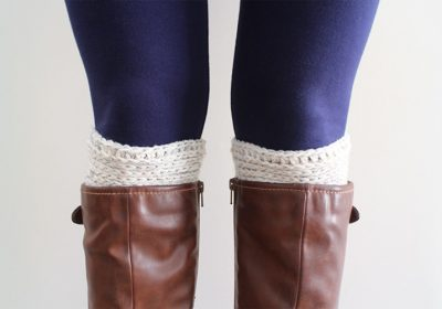 Simply Ribbed Crochet Boot Cuffs