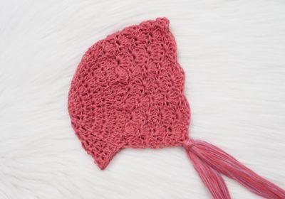 Delicate Lace Crochet Baby Bonnet