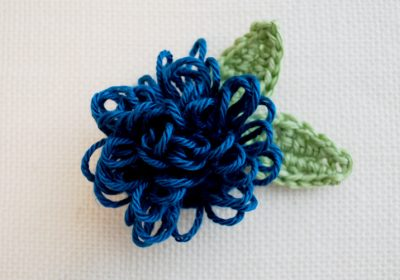 Loop Stitch Crochet Flower