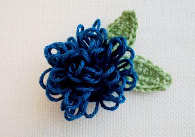 Loop Stitch Crochet Flower