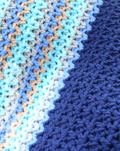 Waves Crochet Baby Blanket