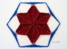 Quilt Inspired Diamond Crochet Hexagon