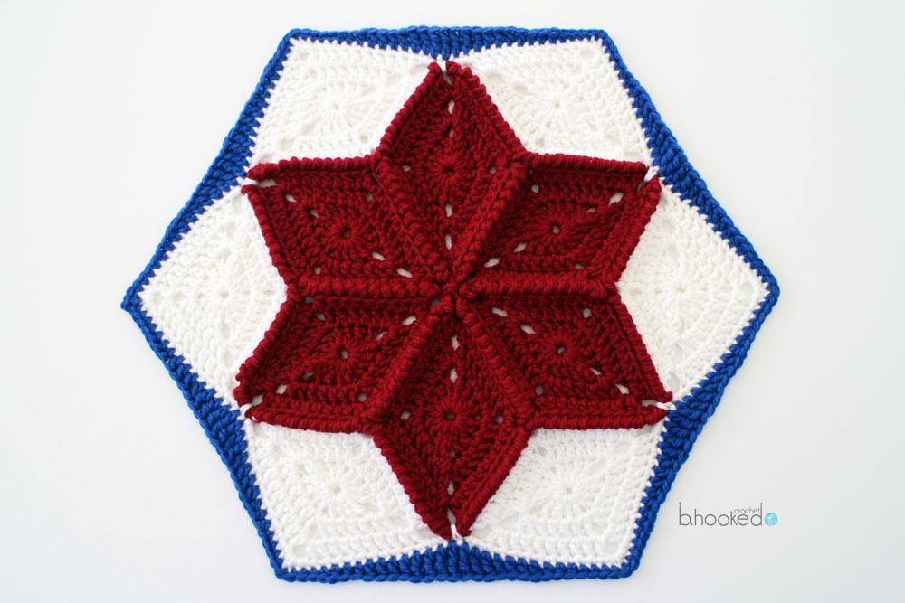 Quilt Inspired Crochet Star Hexagon B Hooked Crochet