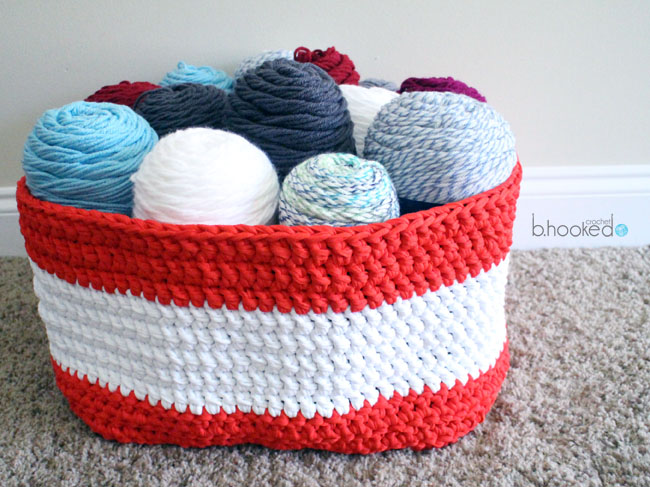 Crochet Yarn Stash Basket