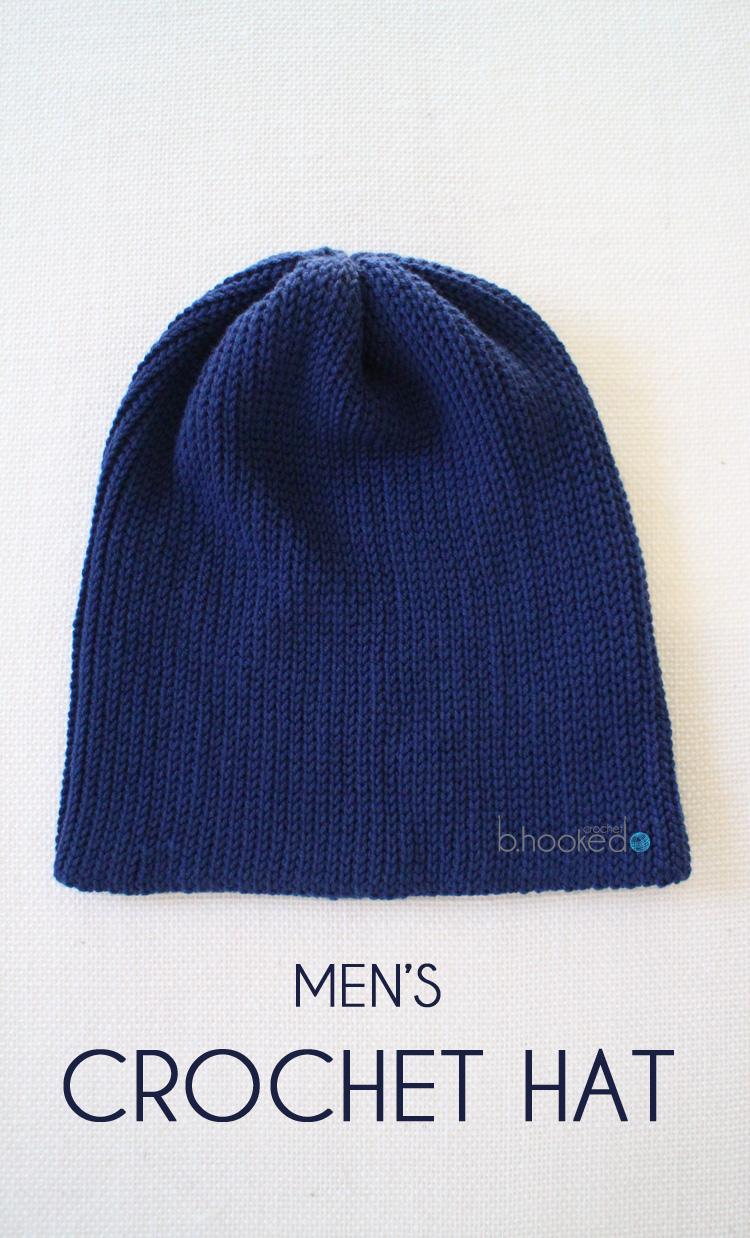Crochet Patterns Mens Hats : Mens Crochet Hat - B.hooked Crochet