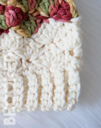 Shell Chunky Slouchy Crochet Hat