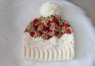 Chunky Shell Slouchy Crochet Hat