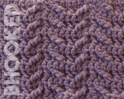 winged crochet cable stitch