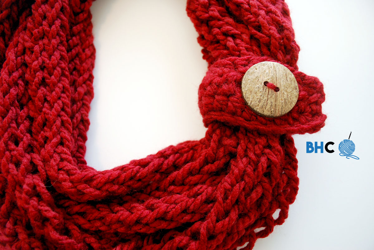 Finger Knit Infinity Scarf
