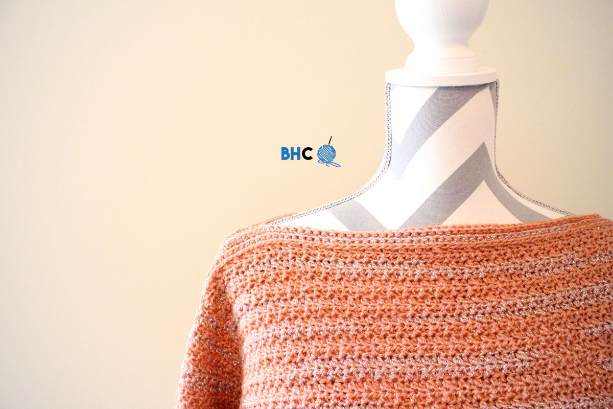 Learn How To Crochet the Patons Boat Neck Pullover