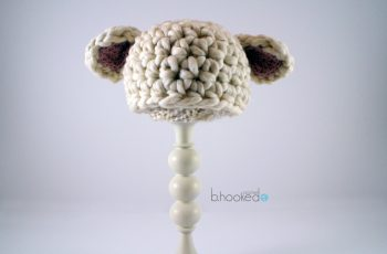 crochet baby lamb hat