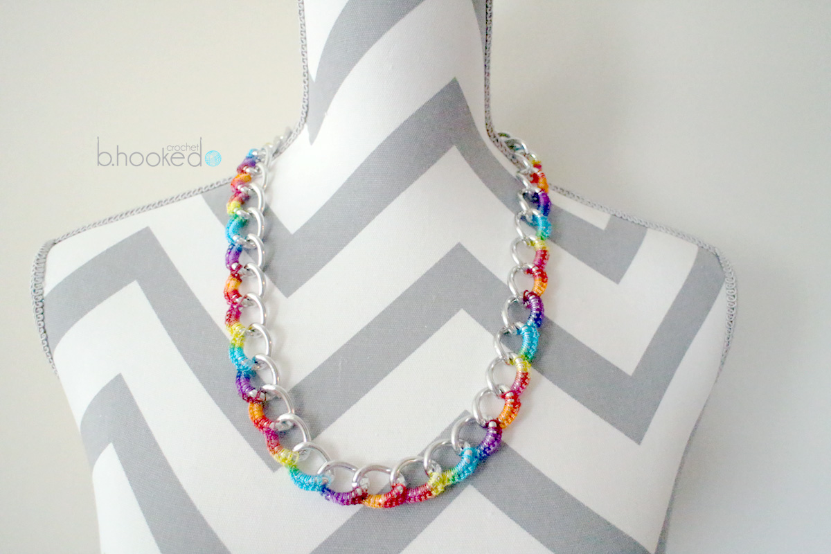 Crochet Necklace: Curb Chain