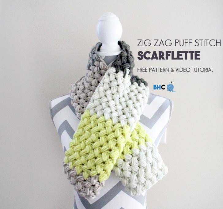 zig zag puff stitch
