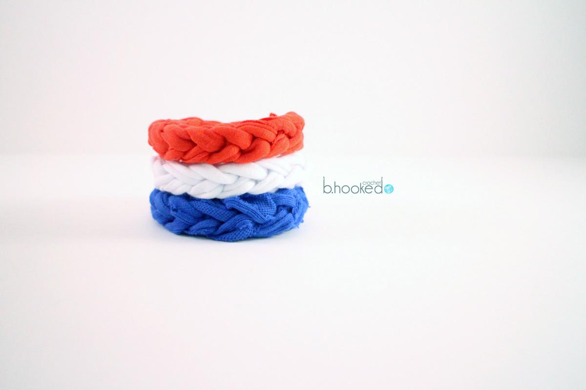 5 Minute Jersey Crochet Bracelet