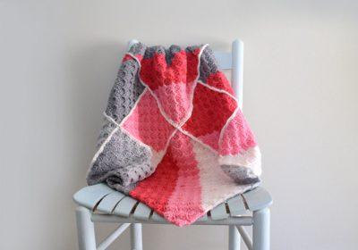 C2C Patchwork Crochet Baby Blanket