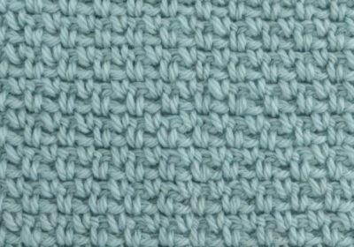 Crochet Moss Stitch (Granite & Linen Stitch)