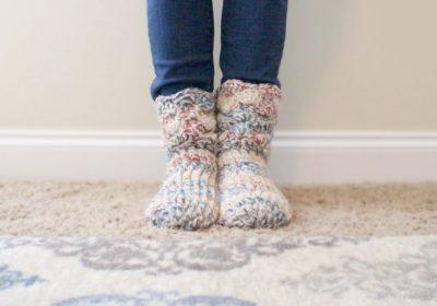 Cozy Crochet Slipper Socks