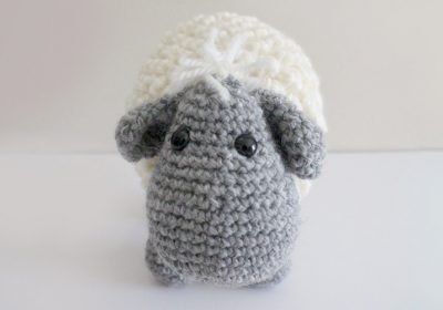 """Lyle"" the Crochet Lamb"