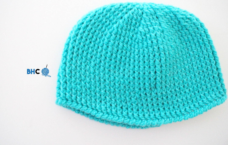 Ribbed Newborn Crochet Hat