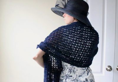 Day at the Oaks Lace Crochet Shawl