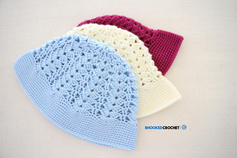 Crochet Sun Hat Free Pattern B Hooked Crochet