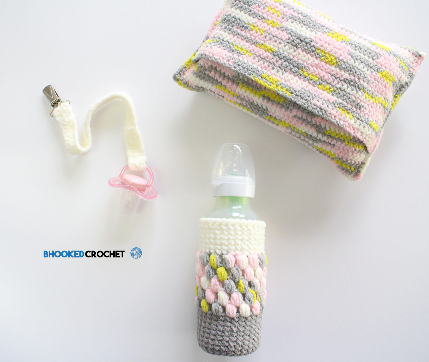 Easy Crochet Baby Shower Gift Set