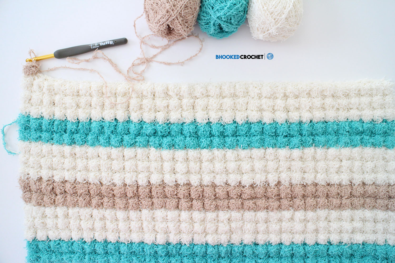 Bobble Crochet Bath Mat