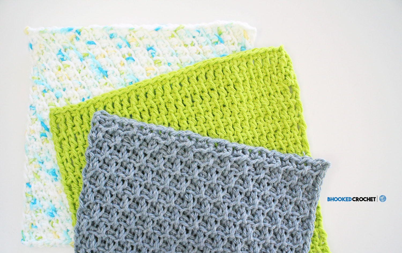 Clover Tunisian Wash Cloth Series: Pattern 3
