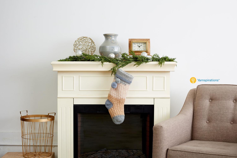 Bernat Pop! Crochet Stocking
