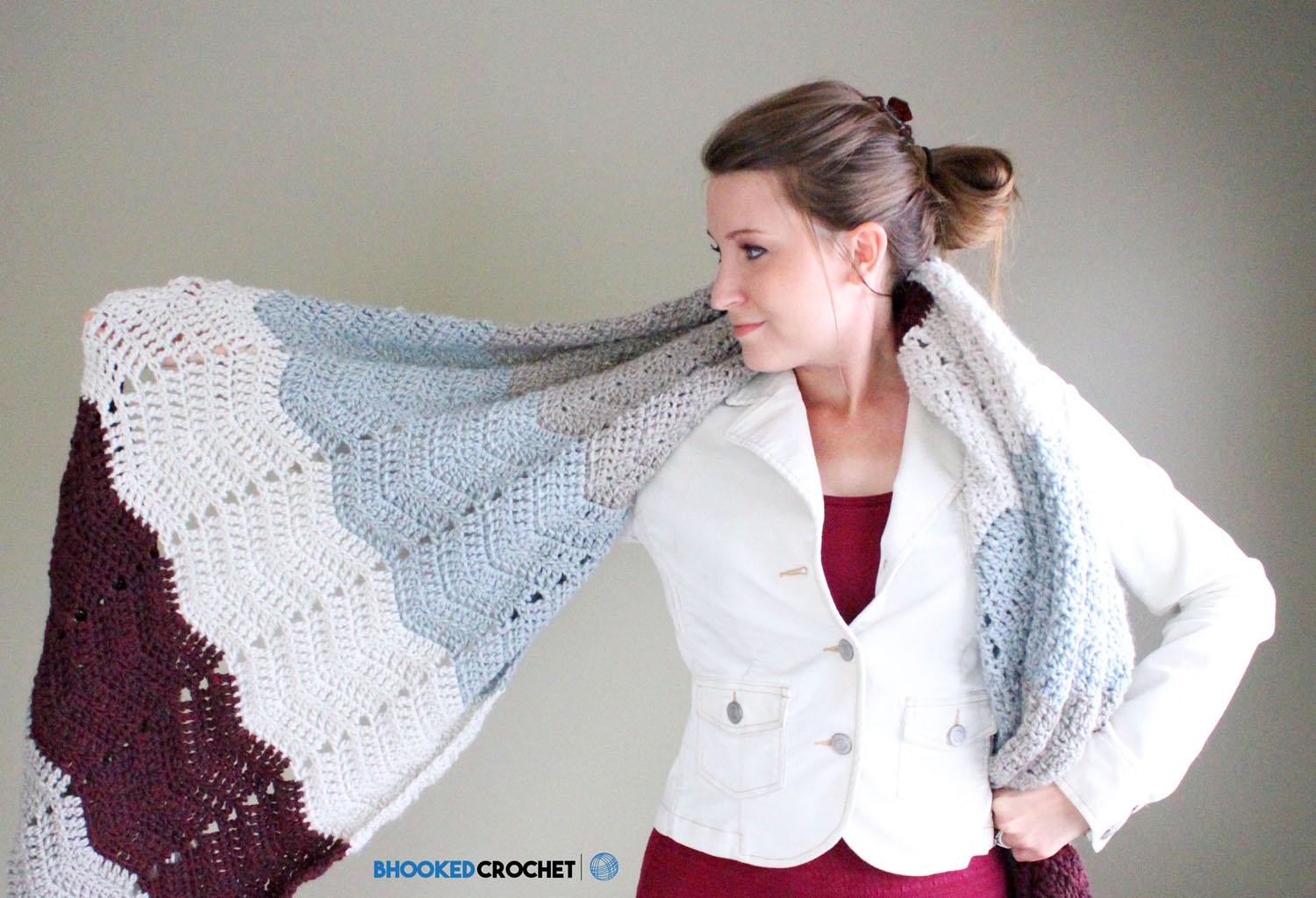 Lush Chevron Crochet Wrap
