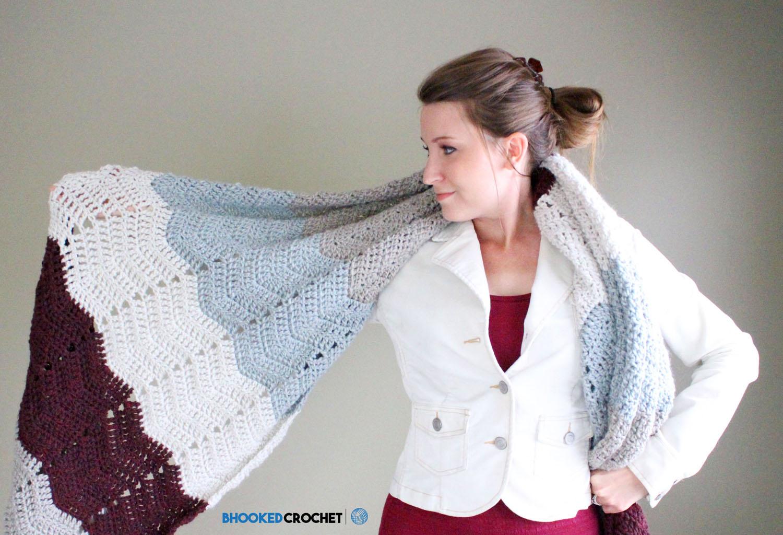 Lush Chevron Crochet Wrap