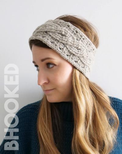 Cable Crochet Headband