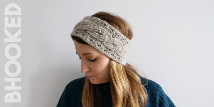 First Time Cable Crochet Headband