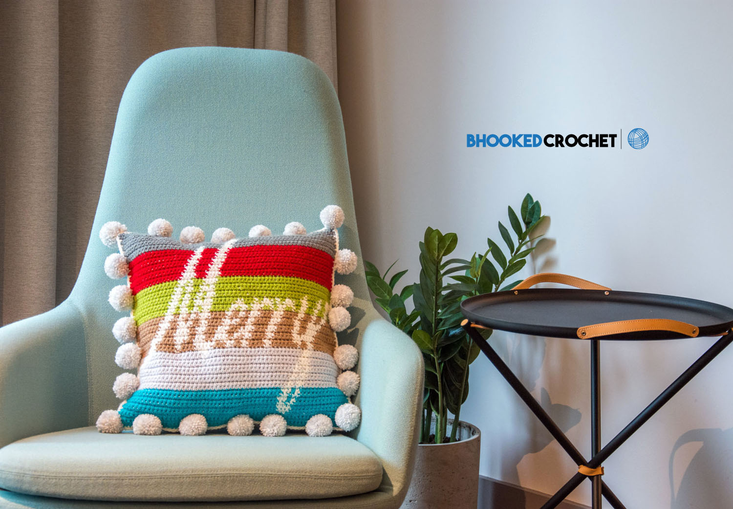 Merry and Bright Crochet Pillow
