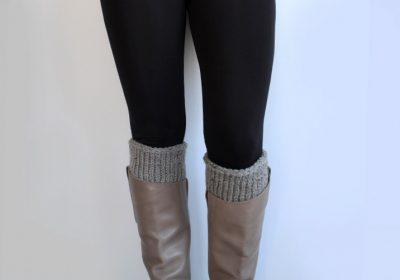 Quick Tunisian Crochet Boot Cuffs