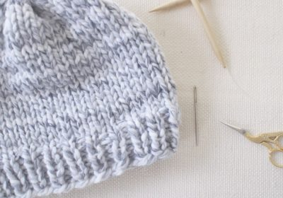 Easy Knit Hat | How to Knit a Hat for Complete Beginners